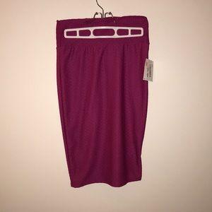 NWT Textured Hot Pink Cassie Skirt